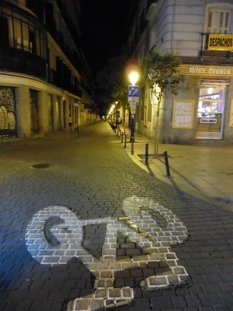 Madrid streets at night