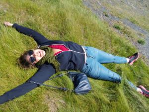 Softest grass ever on Cliffs of Moher walk