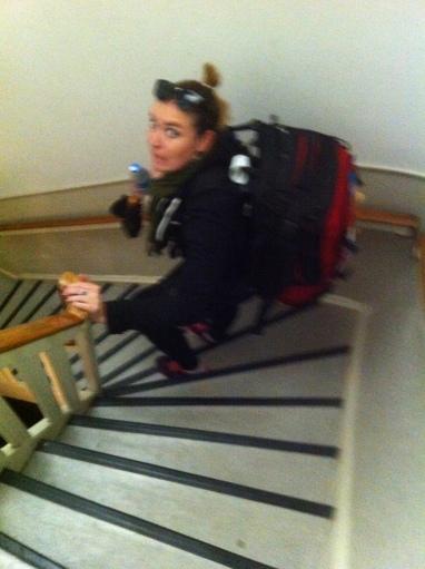 Precurious dutch stairs!