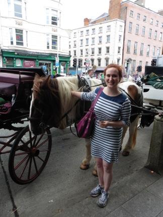 """Gesa's happy """"I like horses"""" face"""