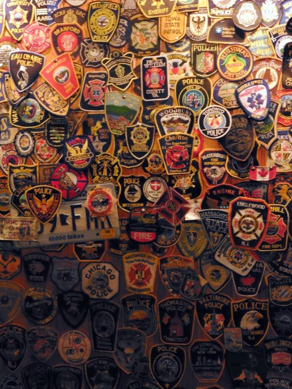Badges on Doolin pub wall